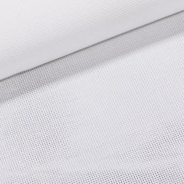 Vyšívací látka KANAVA 7 jednobarevná bílá, š.140cm (látka v metráži)