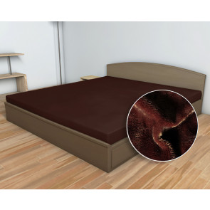 Prostěradlo MIKROFLANEL SLEEP WELL 90x200cm, tmavě hnědé