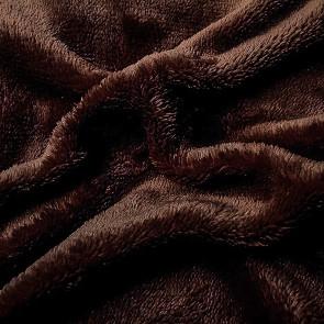 Prostěradlo MIKROFLANEL SLEEP WELL 180x200cm, tmavě hnědé