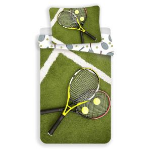 Sportovní povlečení TENIS, fototisk, zelené, bavlna hladká, 140x200cm + 70x90cm