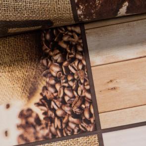 Ubrus PVC s textilním podkladem 726 cafe brasil, hnědá, š.140cm (metráž)