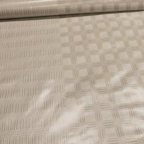 Ubrus PVC s textilním podkladem 5704330, béžové proužky a káro, š.140cm (metráž)